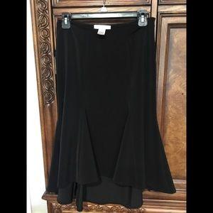 WHBM Black High Low Skirt Size 0